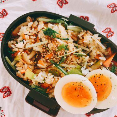 鮭と野菜の塩チャーハン★免疫力UP!