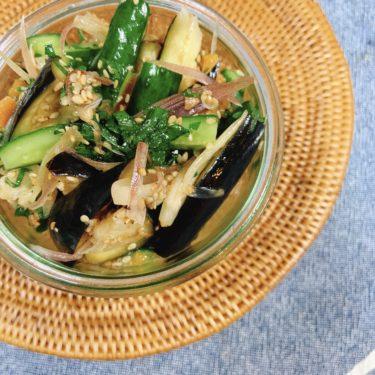 3色野菜の即席浅漬け梅肉風味★むくみ予防&腸内環境ケア