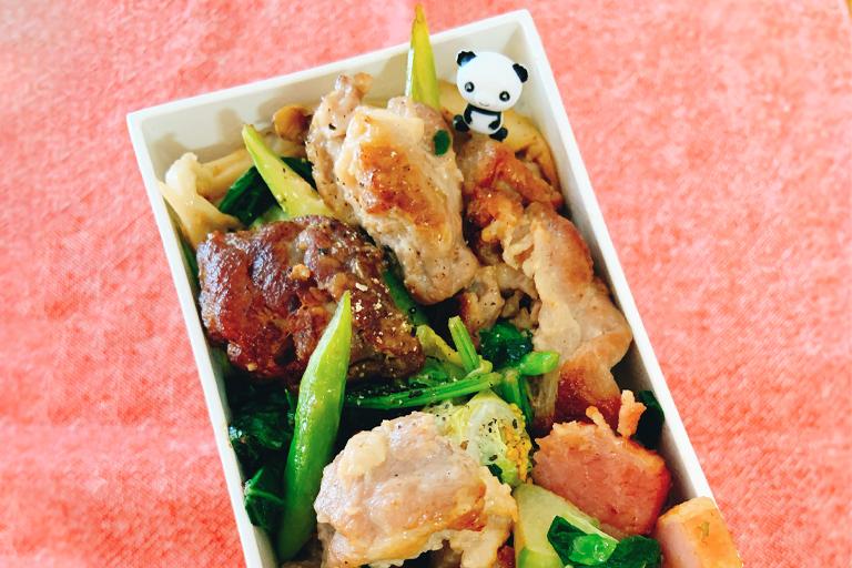 季節野菜と豚肉のご馳走うま塩炒め